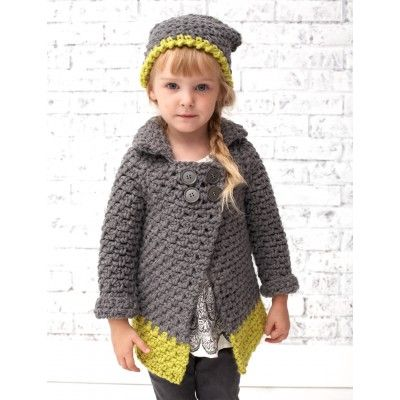 Intermediate Child\'s Cardigan Crochet Pattern | Crochet - Baby ...