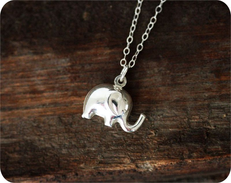 because elephants just always make me happy. yes. :: Sterling Silver Elephant Necklace
