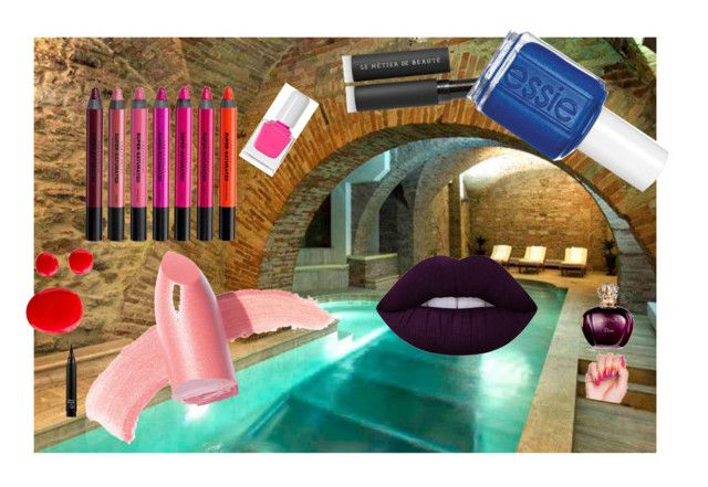 """""""Makeup pool party by Madge"""" by guliverlouise ❤ liked on Polyvore featuring art"""