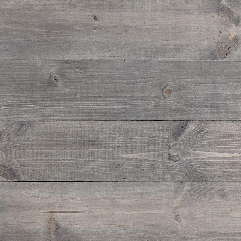 Dry Brushed Grey Wall Boards Wood panel walls, Wall