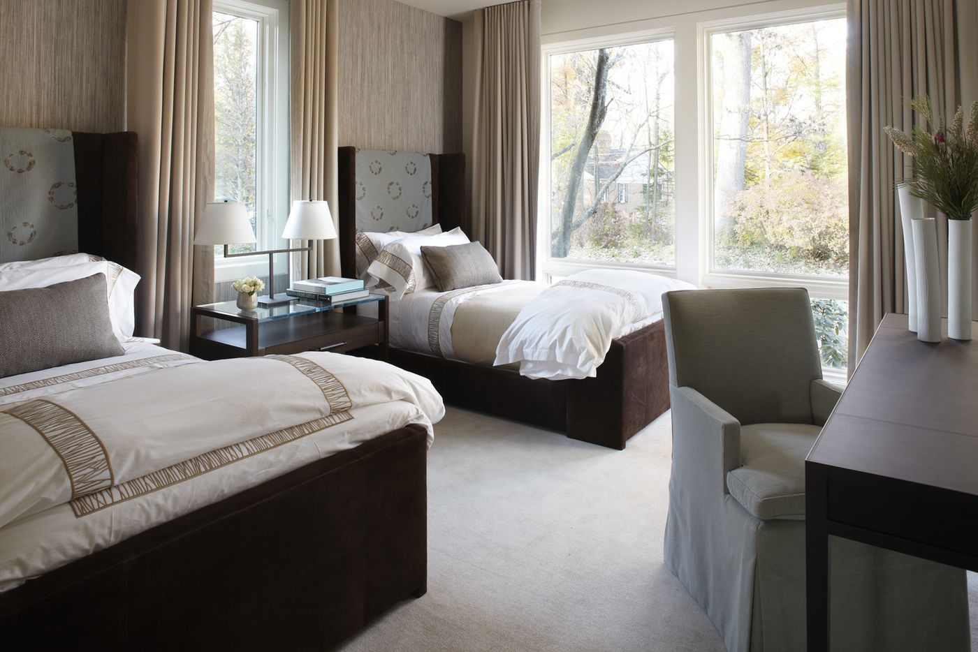 Pin On Bedrooms Lake residence transitional bedroom