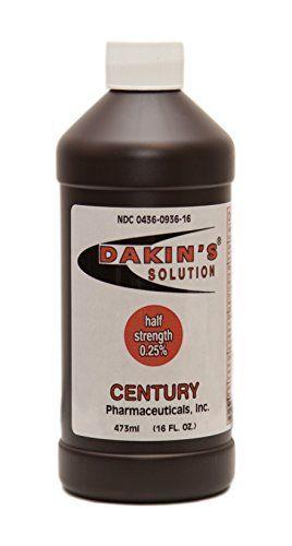 Dakin 8217 S Solution Half Strength Sodium Hypochlorite 0 25