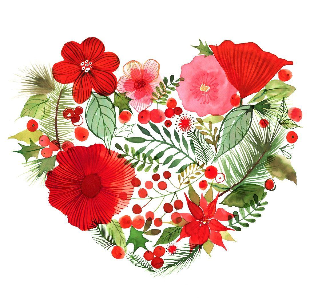 Christmas Heart by © Margaret Berg www.margaretbergart.com ...