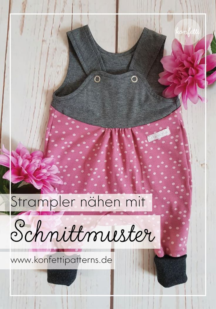 Barboteuse d'hiver   – Schnittmuster Baby- und Kinderkleidung
