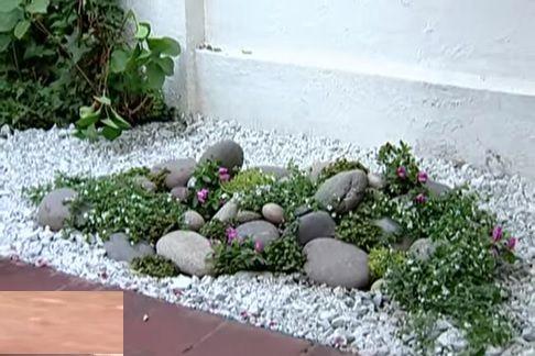 Arriba de la maya pondremos la gravilla arreglos zona media for Como decorar mi patio con piedras