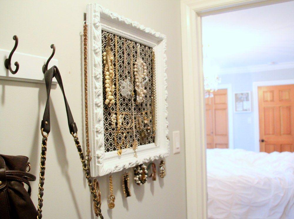DIY Vintage Frame Jewelry Organizer | Craft-ing | Pinterest | Frame ...