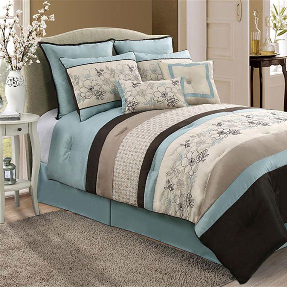 Victoria Classics Mirabel 8 Piece Queen Comforter Set Recamara  # Muebles Cid Villarica