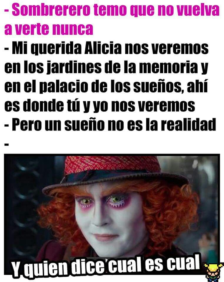 Alicia A Través Del Espejo Sombrerero Frases Del