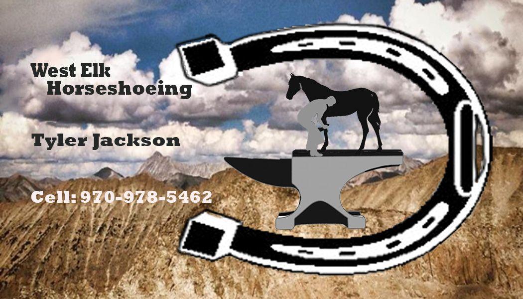 Tyler Jackson is horseshoeing! If you need to get those horses ready ...