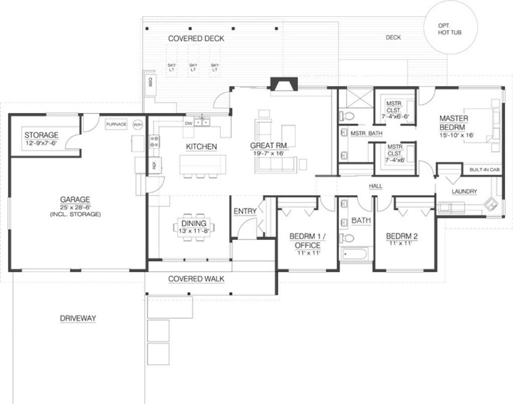 1986 Sq Ft 3 Beds 200 Baths 1 Fl Floor Plans In 2018 Pinterest - Plano-casas-modernas