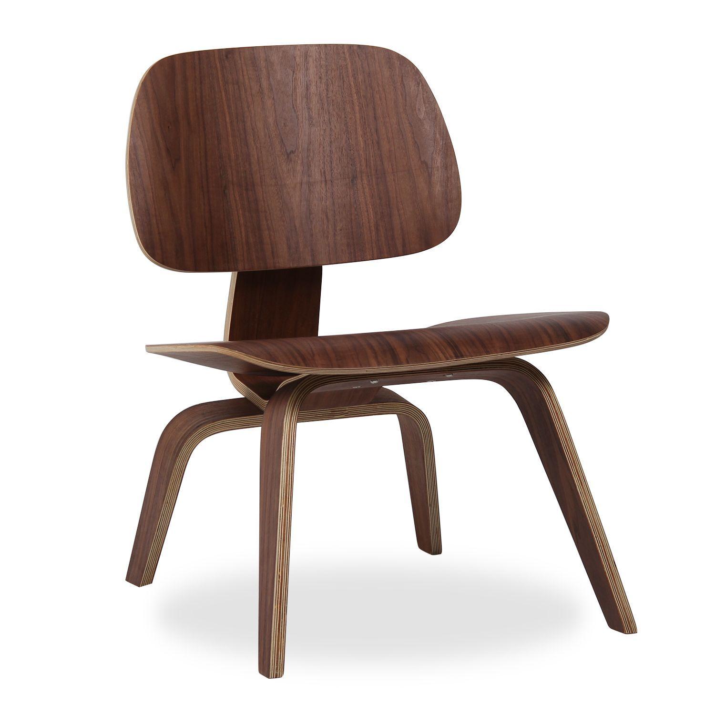 silla coffee walnut sillas eames lcw coffee sillas de diseo mesas de - Eames Silla