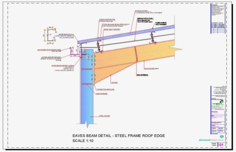 Acier Hangar Portique Avant Toits De Faisceau Detail En 2020 Avant Toit Toit Portique