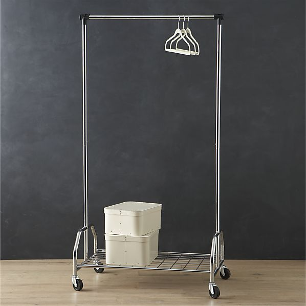 Extra Large Rolling Clothes Rack I Crate And Barrel