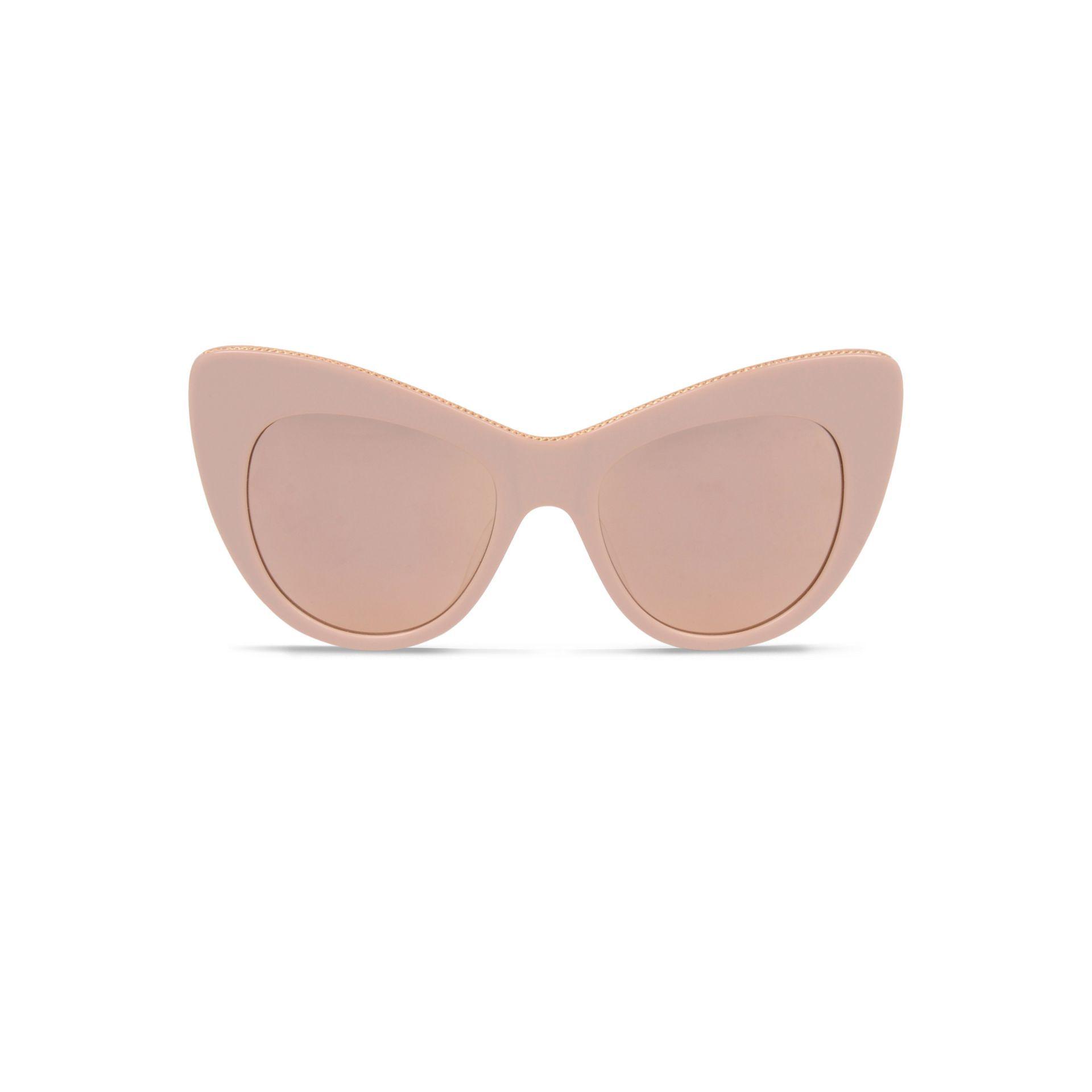 Oversized Stella Exaggerated Cat Eye Pin Up Girl Big Large: Rose Oversized Cat Eye Sunglasses - STELLA MCCARTNEY