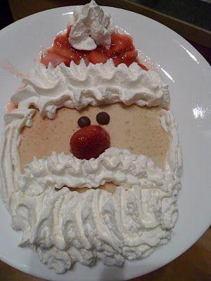 Santa Pancakes! Christmas breakfast!