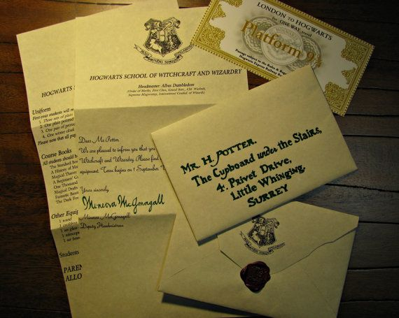Custom Harry Potter Handwritten Hogwarts Acceptance Letter And