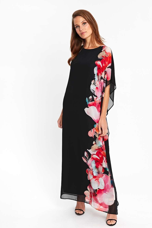 Wallis One Shoulder Black Overlayer Maxi Dress Uk Size 8 20 Occasion Maxi Dresses Maxi Dresses Uk Maxi Dress