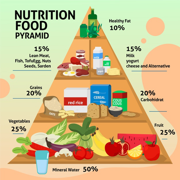 Download Food Pyramid Template Concept For Free In 2021 Food Pyramid Pyramid Template Healthy Eating Pyramid
