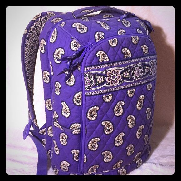 Purple Paisley Vera Bradley Laptop Backpack Only Used For School One Semester It Has A Son Of Life Left In