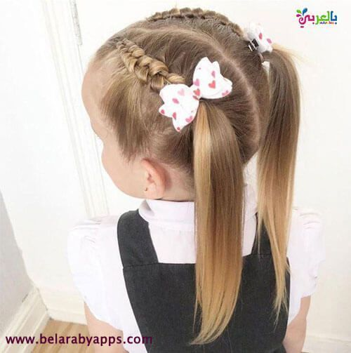 Easy and distinctive hairstyles for kids for school, #peinadosdefiesta, #Uncategorized,