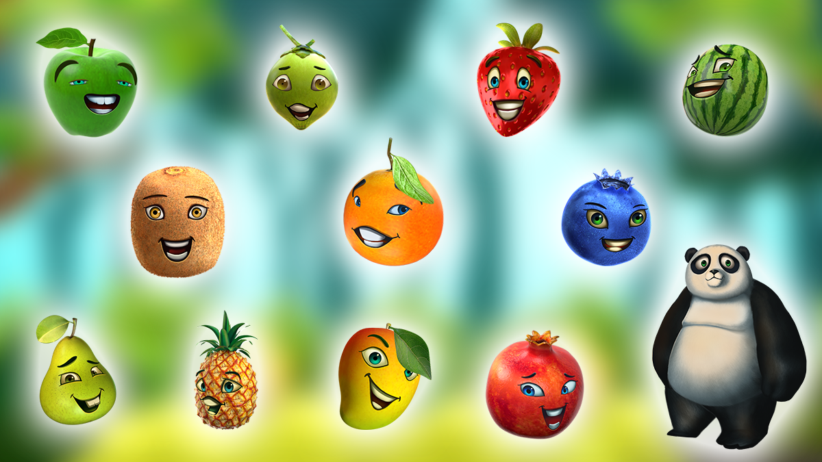 Happy Fruits Skill Game Objects/Characters Skill games