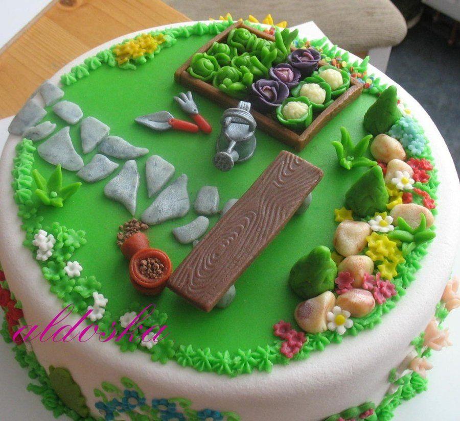 Gardening Cake | Garden cakes, Garden birthday cake ...