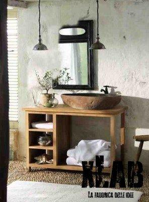 Mobile bagno in legno di larice American Style | Bagno | Arredamento ...