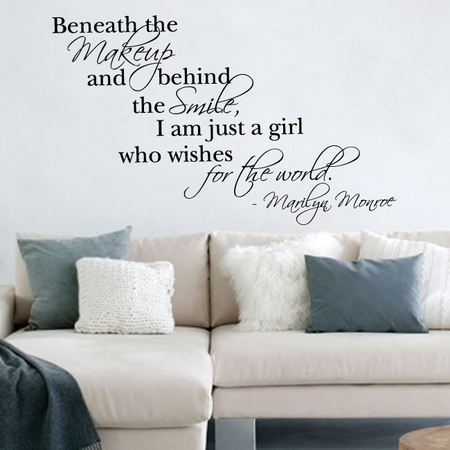 Wall art stickers marilyn monroe quote vinyl wall art sticker decal ebay