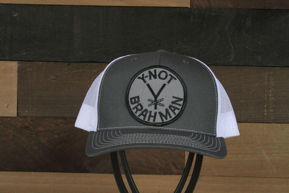 Vintage Y Not Brahman Patch On A Richardson 112 Trucker Hat Snapback Richardson Truckerhat Casual Trucker Hat Hats Snapback Trucker