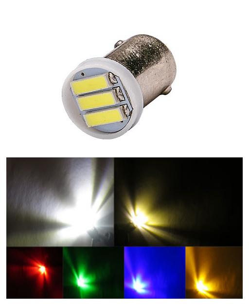 51 Miniature Bulb Ba9s Base 6 Volt 3 Smd 7020 Led T3 1 4