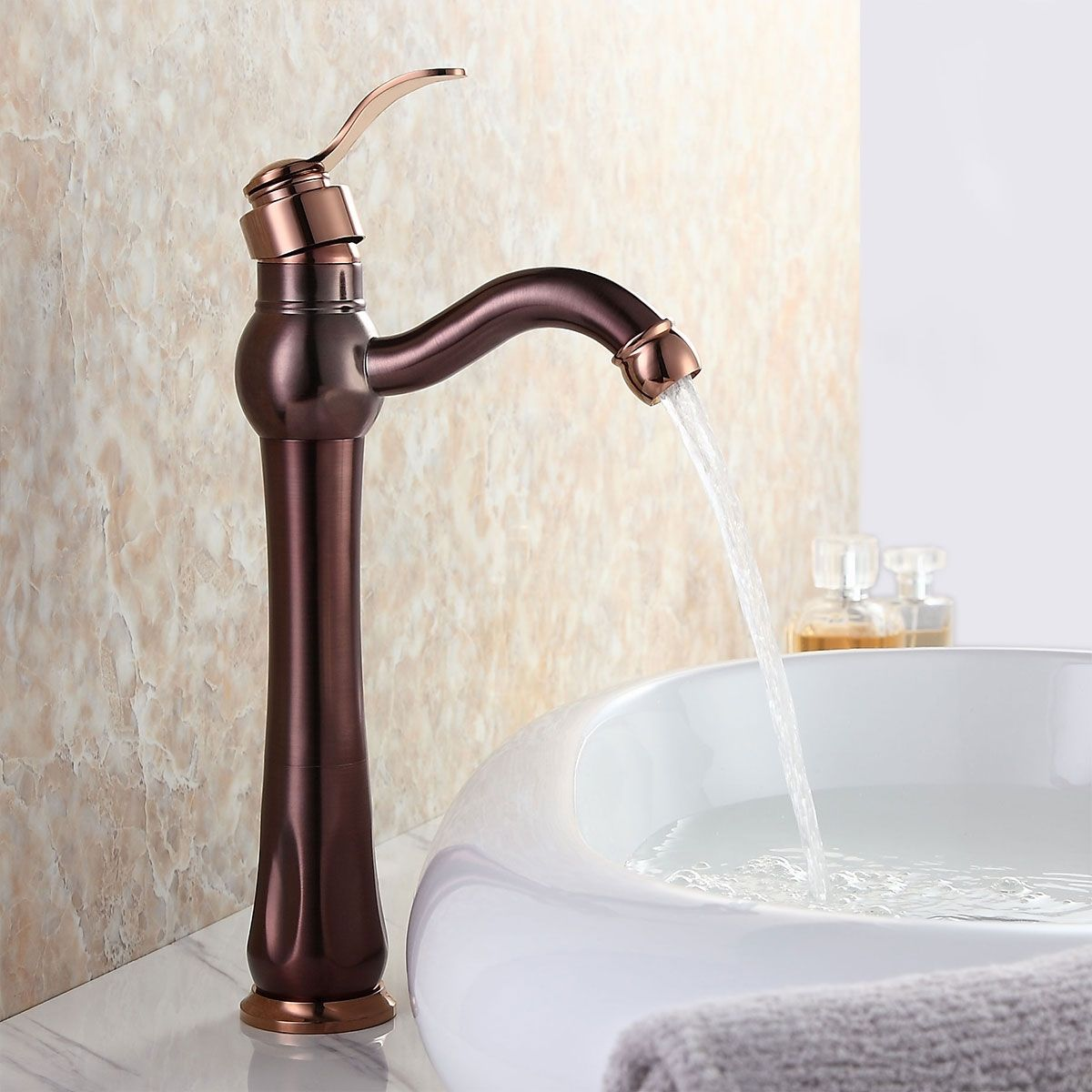 Inias Classic Single Handle One Hole Oil Rubbed Bronze Amp Rose