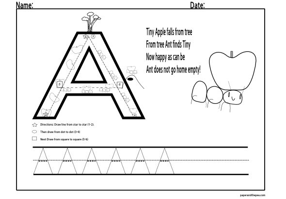 Free Worksheets Alphabet Tracing Pages Free Free Math – Tracing Letter a Worksheet