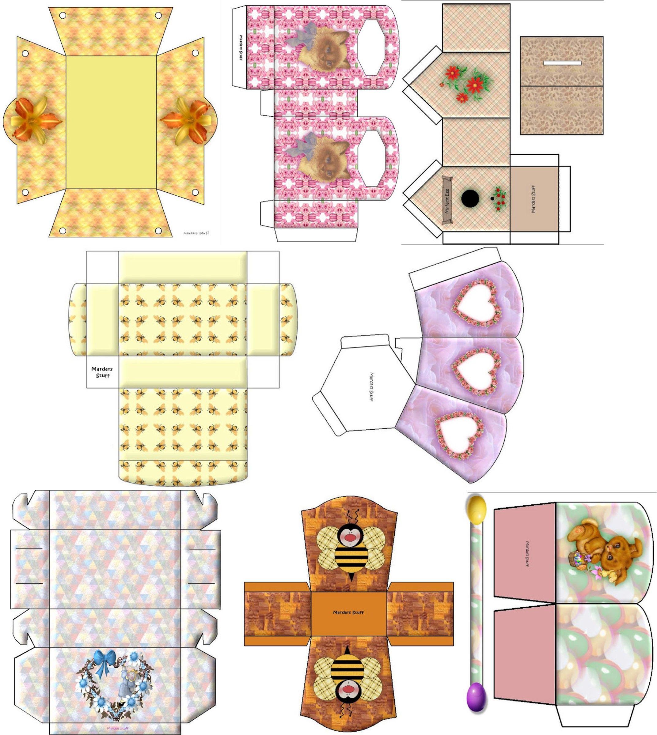 moldes de cajitas dulceras para imprimir gratis - Buscar con Google