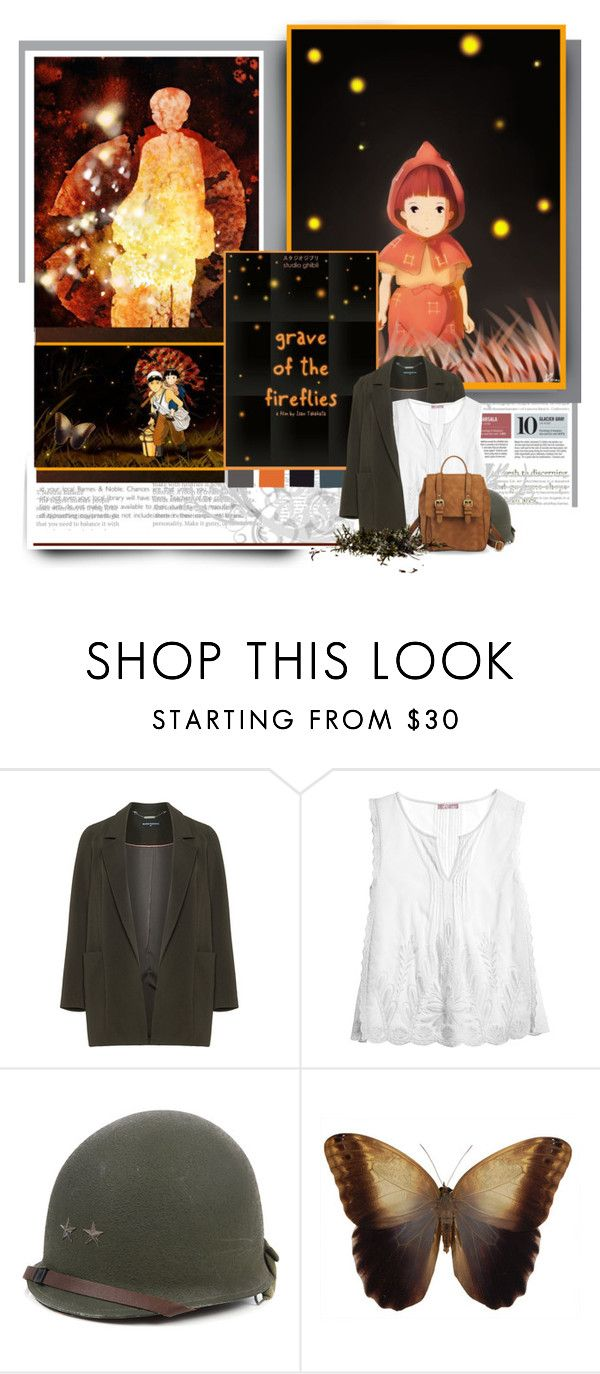 """""""Grave of The Fireflies"""" by caddow ❤ liked on Polyvore featuring Ghibli, Manon Baptiste, Calypso St. Barth and Merona"""