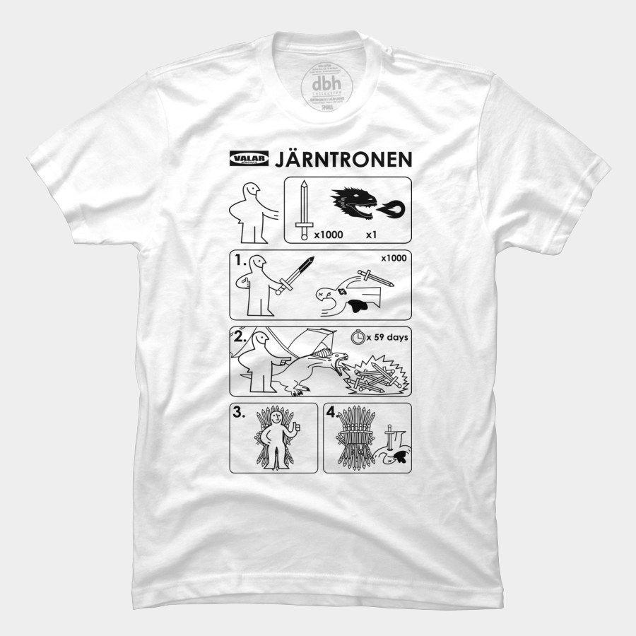 a7a847aef I like the Ikea aspect here... Ikea Iron Throne Järntronen T Shirt ...