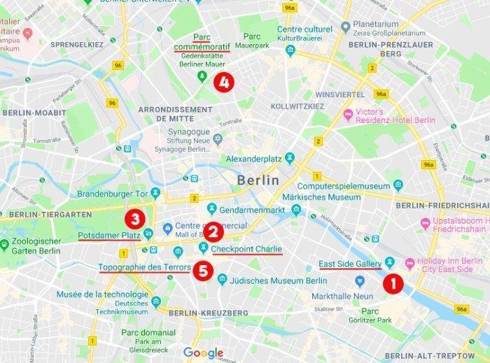 Ou Voir Le Mur De Berlin Les Cinq Vestiges A Ne Pas Manquer Murdeberlin Map Berlin Map Screenshot