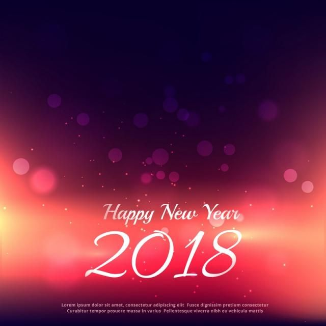 2018, New, Year, Happy, Eve, Event, December, Card,