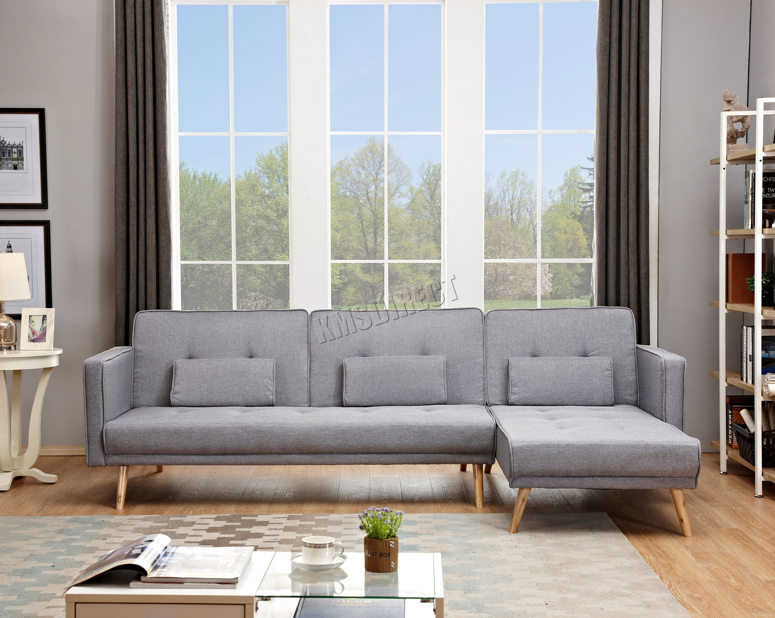 Westwood Luxury L Shape Fabric Sofa Bed Corner Couch 3 4 Seater Fsb05 Home Sofa
