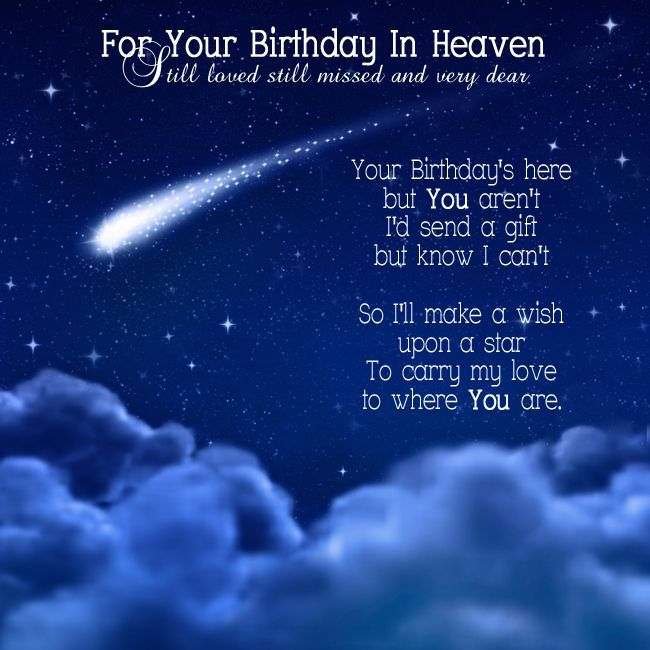 Your birthday in heaven heavens birthdays and star for Is tomorrow a good day to go fishing