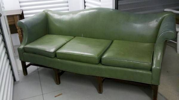 Green Naugahyde Sofa - $85 (1726 North Monroe Street ...