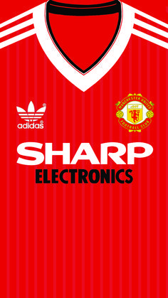 Manchester United Home Kit 1982 Iphone 5 5s 6 Wallpaper Manchester United Home Kit Manchester United Manchester United Wallpaper
