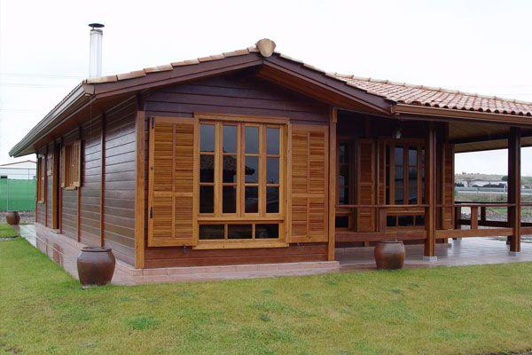 Casa prefabricada barata casas de madera pinterest for Chimeneas prefabricadas