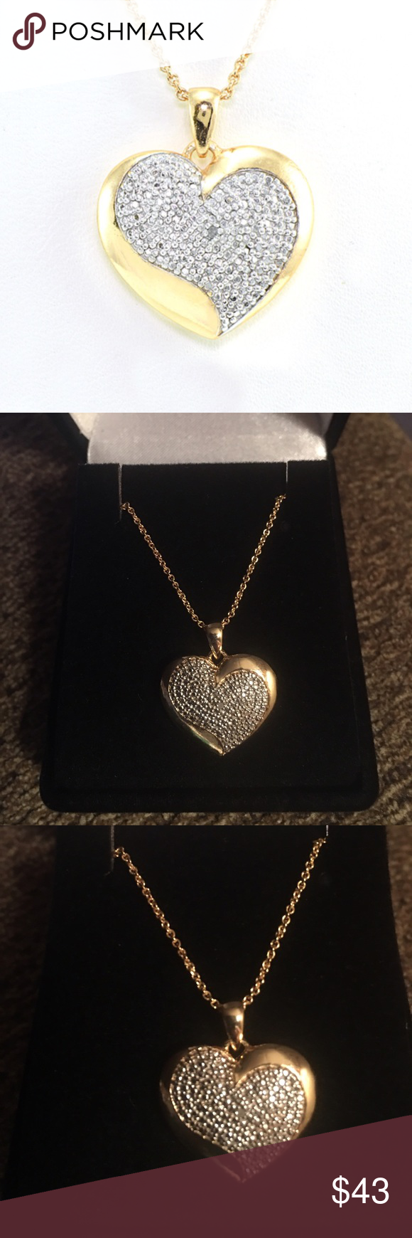 Diamond accent heart necklace aloadofball