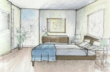 Interior Design Drawings Sketches BedroomNot only interior design sketches  living room , all room i think use interior design sketches.
