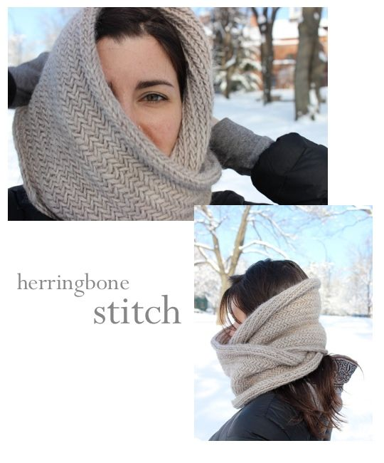 herringbone cowl (via madebyrachel. pattern via purlbee) | knitty ...