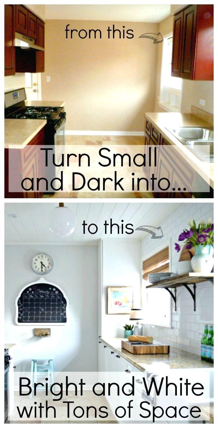10+ Unearthly Small Kitchen Remodel Pass Through Ideas #whitegalleykitchens