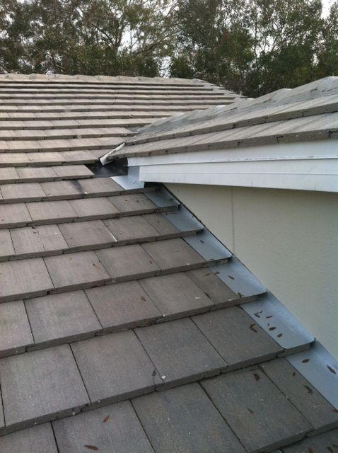Tile Roof Valley Flashing Installation