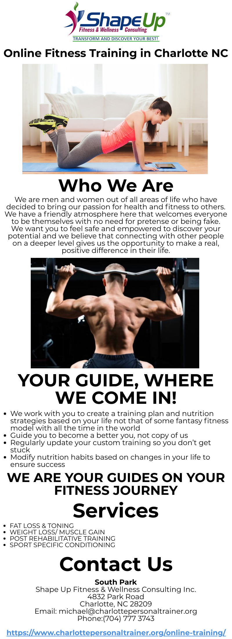 Online Fitness Training In Charlotte Nc Fitness Training Online Workouts Workout Training Programs