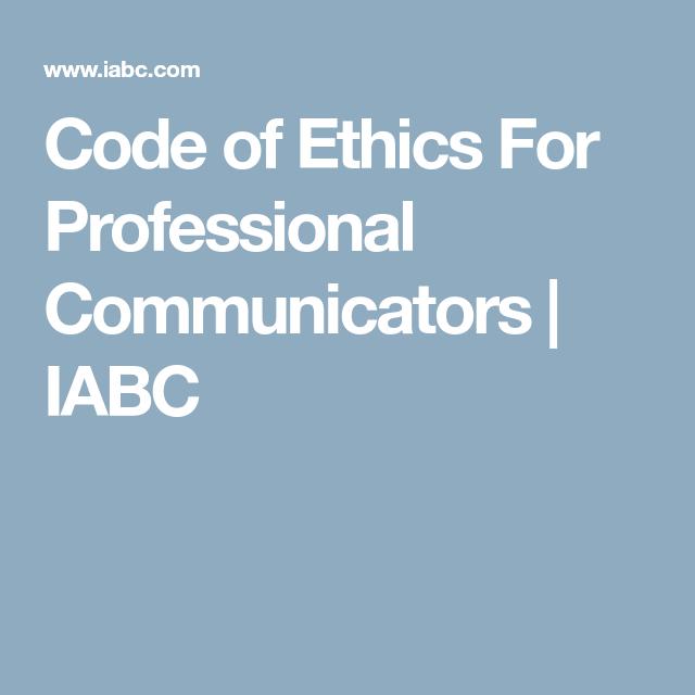 iabc code of ethics