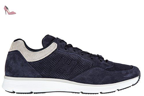 Hogan chaussures baskets sneakers homme en cuir h254 t2015 h 3d forato blu EU 42 HXM2540T780FKF9880 - Chaussures hogan (*Partner-Link)